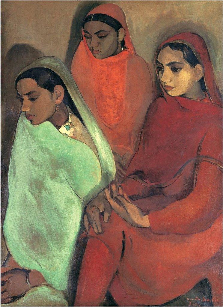 Groupe de trois jeunes femmes, 1935
