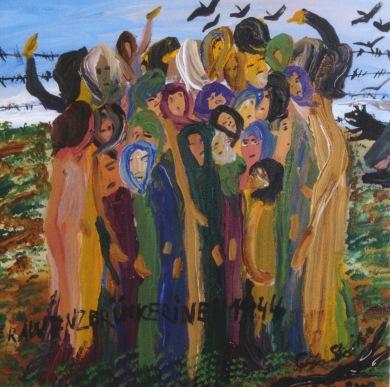 Les femmes de Ravensbrück, 1944, 18.12.2008, 60x59,5 cm