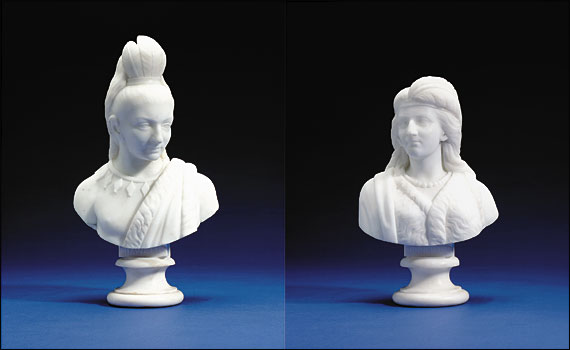 Bustes d'Hiawatha et Minnehaha