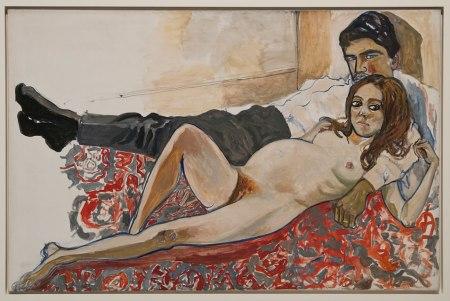 Julie enceinte avec Algis, 1967