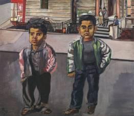 Garçons Dominicains sur la 108th street, 1955