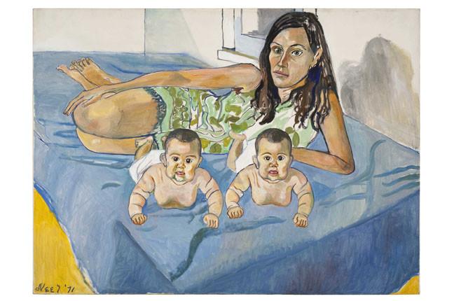 Nancy et les jumelles (5 mois), 1971