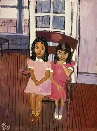 Deux Filles Dans Spanish Harlem, 1941