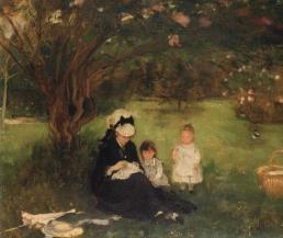 Les Lilas à Maurecourt, 1874