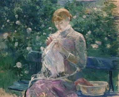 Pasie cousant dans le jardin, 1881-82