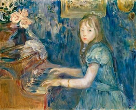 Lucie Leon au piano, 1892