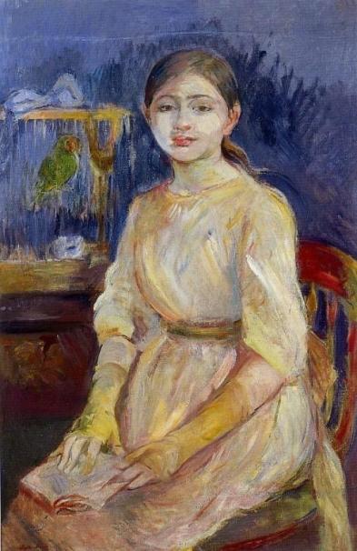 Julie Manet avec une perruche, 1890